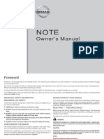 Nissan Note 2006 Owner Manual