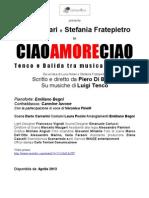 Presentazione Ciao Amore Ciao