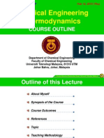 Lecture note  Introduction Class Chemical engineering thermodynamics