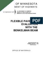 Flexible Pavement Evaluation With Benkelman Beam - MDOH