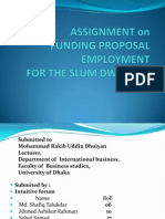 FUNDING PROPOSAL EMPLOYMENTFOR THE SLUM DWELLERS