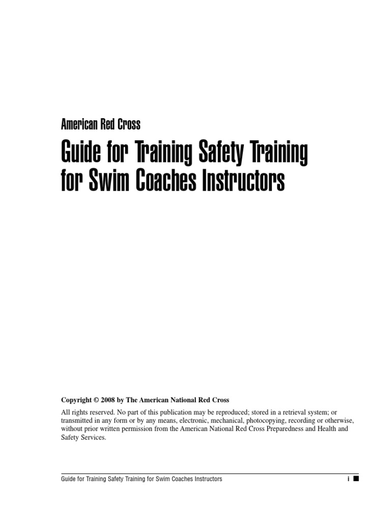 Guide for training safety training for swim coaches instructors guide for training safety training for swim coaches instructors lesson plan swimming sport xflitez Image collections