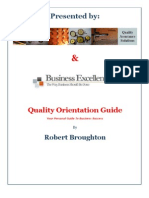Quality Orientation Guide
