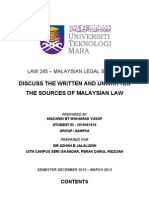 Written & Unwritten On Msia Law