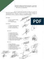 Acta de Constitución de La Mesa de Negociación