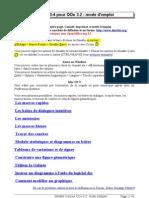 Dmaths 3-4 Pour OOo 3.2 _ Mode d'Emploi - Didier Dorange-Pattoret