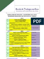 Calendário&Plano2012ETC