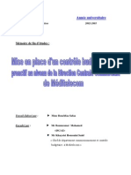 contrôle budgétaire proactif MEDITELECOM