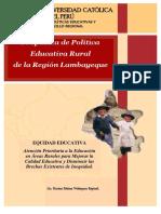 PROPUESTA DE POLÍTICA EDUCATIVA