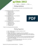 Pitching Mechanics and Pitch Limits