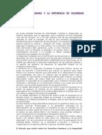SEGURIDAD CIUDADANA Y LA DIFERENCIA DE SEGURIDAD PÚBLICA
