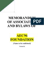 Memorandum of Association AEC96 v1 0