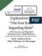 The Explanation of the Four Rules Regarding Shirk Shaikh Muhammad Abdul-Wahaab - Qawaid al-Arba'a