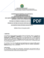 Edital de Matricula No 92-2011 Confirmacao de Matricula Lista de Espera 1o Chamada (1)