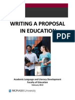 Writing Proposal in Education Booklet