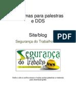 20 TEMAS PARA DDS - SEGURANÇA DO TRABALHO NWN
