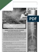 Cespe 2012 Anac Tecnico Em Regulacao de Aviacao Civil Conhecimentos Basicos Areas 1 3 e 4 Prova