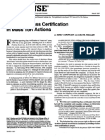 """""""Defeating Class Certification in Mass Tort Actions"""" (For the Defense, March 1997)"""
