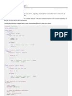 Cpp Polymorphism