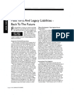 """Mass Torts and Legacy Liabilities – Back to the Future"" (Corporate Counsel, August 2008)"