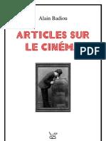 Alain Badiou Articles Sur Le Cinema