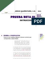 Prueba Beta III