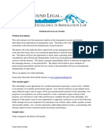 Puget Sound Legal Internship