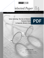 Piotroski Original PaperValue Investing