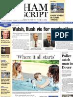 Dedham Transcript Sept. 2, 2010 Walsh, Rush vie for nomination