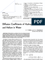 Diffusivity Coefficient of Hydrogen