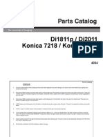 Konica Minolta - Parts Manual Di1811p Di2011-PM