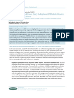 Forrester - 10 Lessons Learned From Early Adopters of Mobile Device Management Solutions 2011
