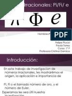 Números Irracionales - 1ºF