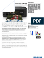 Epson Expression Home XP 402 Brochure Prodotto