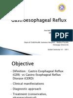 Gastroesophageal Reflux Smt VI 2011