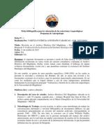 Ficha bibliográfica para la valoración de las colecciones Arqueológicas