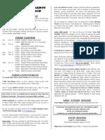 All Saints Bulletin 2009-02-15