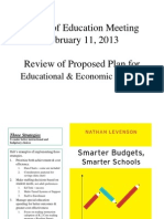 Review of Proposed Plan for Educational & Economic Stability