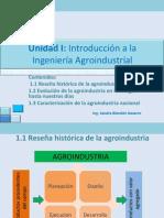 - Unidad i - Introduccion a La Ing. Agroindustrial