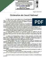 Declaration BN Janvier