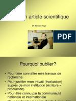 Ecrire Un Article Scientifique