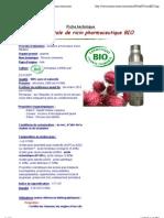 Fiche technique huile végétale de Ricin - Ricinus communis