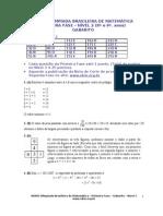 1Fase_Nivel2_Gabarito_2011