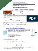 Fuerzas en fluidos. Física y Química de 4º de ESO