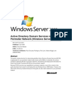 Active Directory Domain Services in the Perimeter Network (Windows Server 2008)