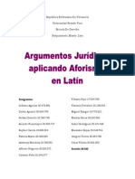 Argumentos Jurídicos Aplicando Aforismos en Latín