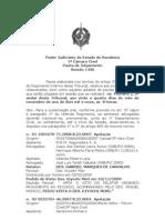 Poder Judiciário do Estado de Rondônia