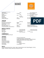 Commercial Resume