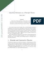 Quantum Mechanics as a Principle Theory