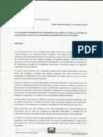 Respuesta Pliego Petitorio 2 de Octubre 2012
